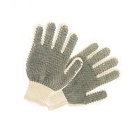 Glove, String Knit Cotton, Double Sided PVC, 12 PR/BX