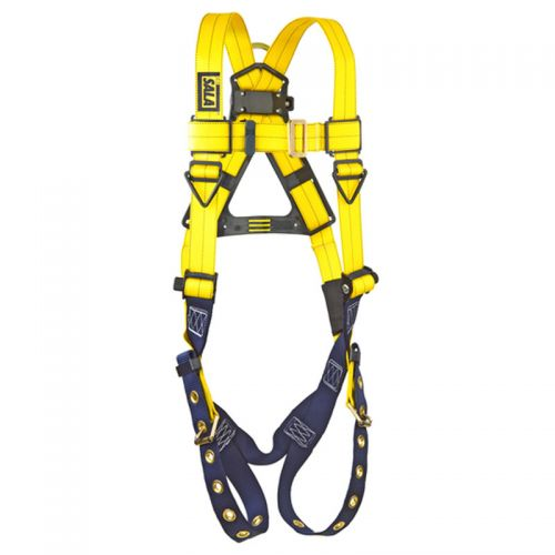 Delta Vest-Style Harness, Tongue Buckle Legs, Stand-up Back D-Ring