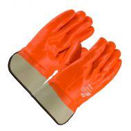 "PVC Dipped Insulated Gloves, Hi-Viz Orange, Smooth, 10.6"" long, 12 pair/BX"