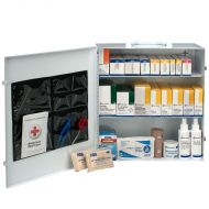 First Aid Cabinet, 100 Person 3-Shelf Industrial