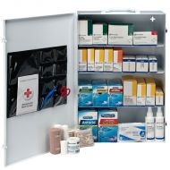 First Aid Cabinet, 150 Person 4-Shelf Industrial