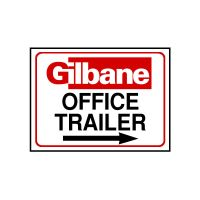 Office Trailer Sign with Arrow