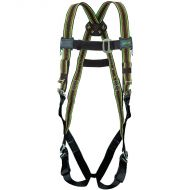 DuraFlex Harness, Green, Mating Buckle Legs, Back D-Ring