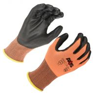 Axis Orange Cut Resistant Glove, Cut Level 4