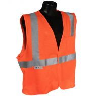Class 2 Vest, Orange, Mesh, Hook & Loop Closure
