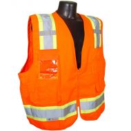 Class 2 Surveyor's Heavy Duty Vest, Orange, Zipper